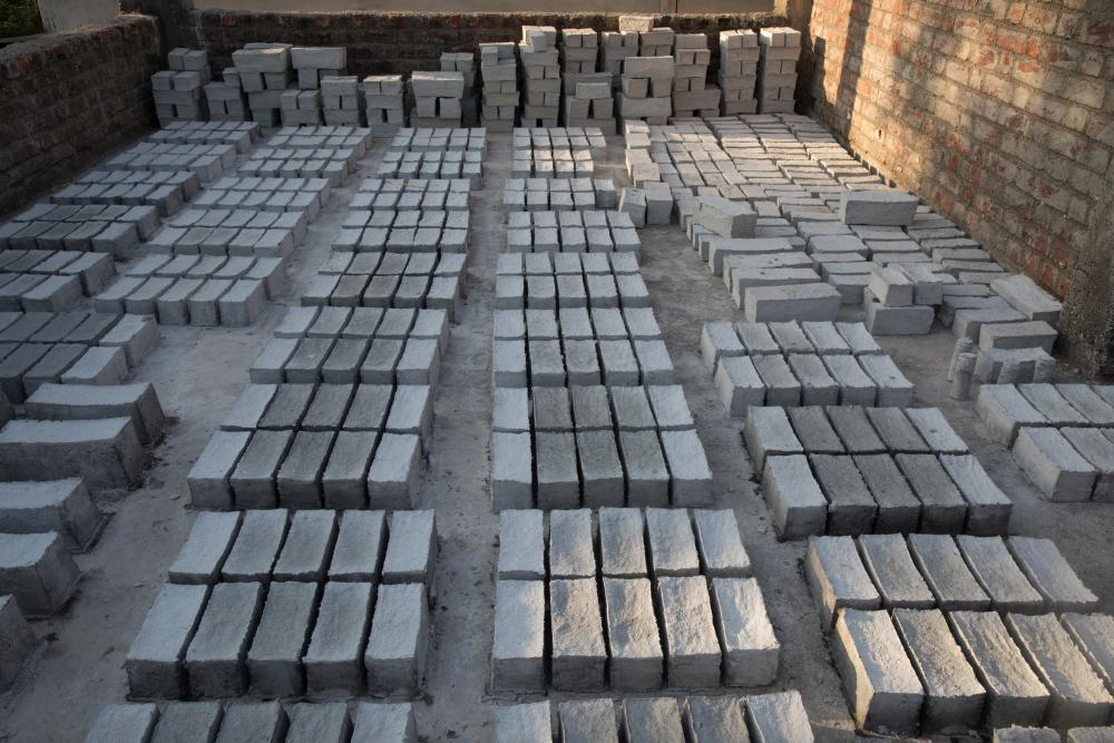 Photo of Desai's eco-friendly-bricks